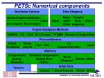 petsc numerical components