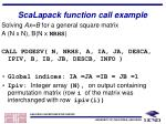 scalapack function call example