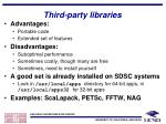 third party libraries