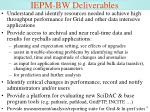 iepm bw deliverables