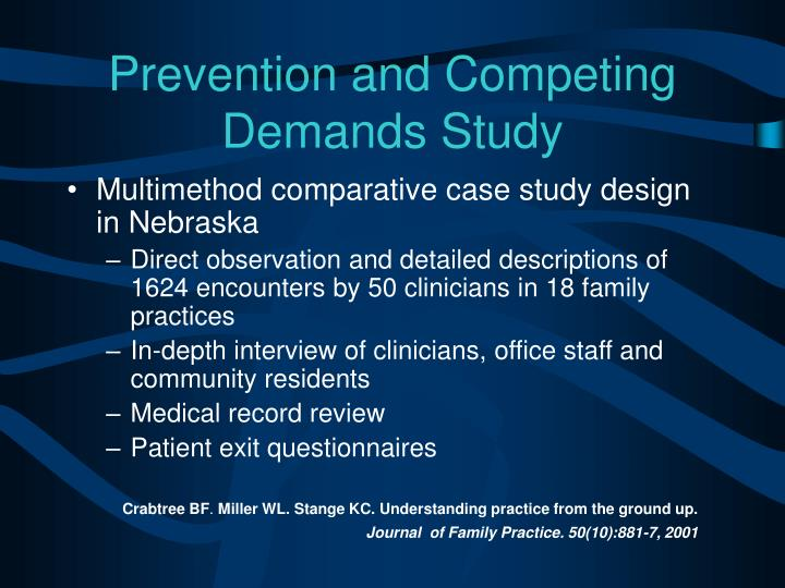 Prevention and Competing Demands Study