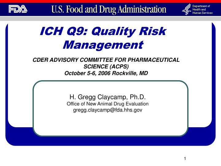 ich q9 quality risk management n.