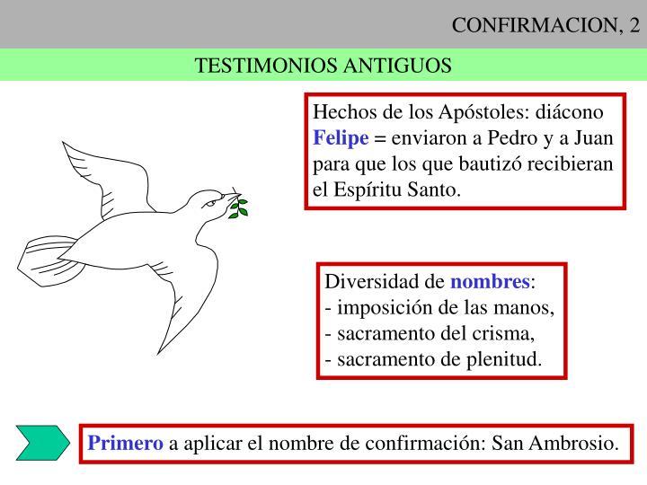 CONFIRMACION, 2