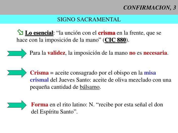 CONFIRMACION, 3