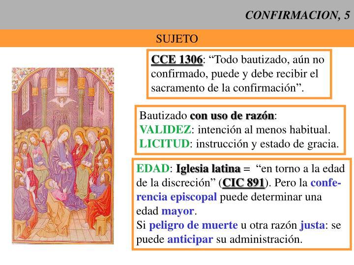 CONFIRMACION, 5
