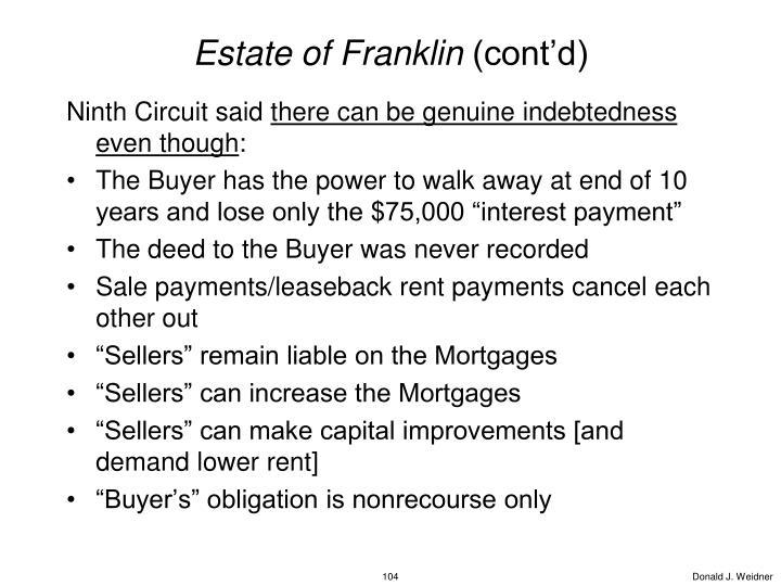 Estate of Franklin