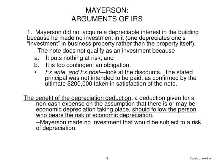 MAYERSON: