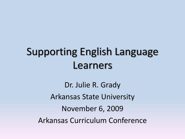 supporting english language learners n.
