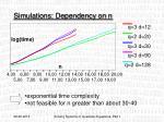 simulations dependency on n1