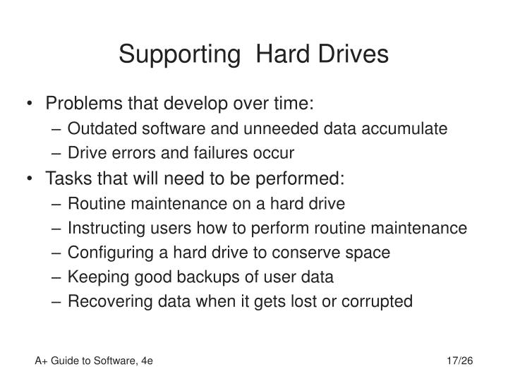 Supporting  Hard Drives
