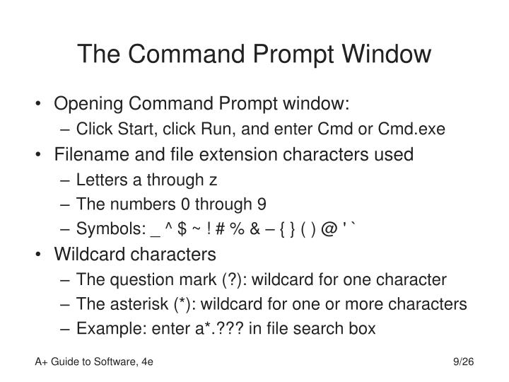 The Command Prompt Window