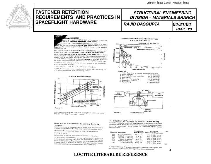 LOCTITE LITERARURE REFERENCE