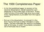 the 1930 completeness paper