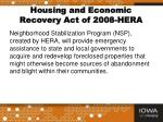 housing and economic recovery act of 2008 hera