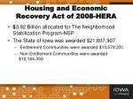 housing and economic recovery act of 2008 hera2