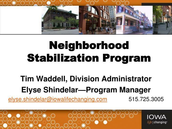 neighborhood stabilization program n.