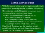 ethnic composition