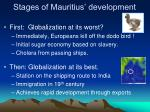 stages of mauritius development