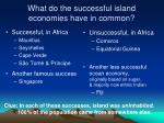 what do the successful island economies have in common