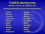 comesa membership member states of comesa are