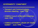 governments commitment