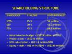 shareholding structure