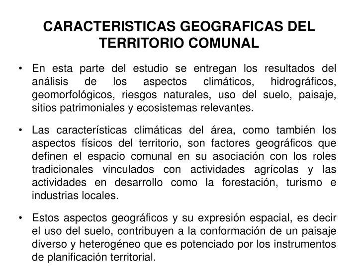 Caracteristicas geograficas del territorio comunal1