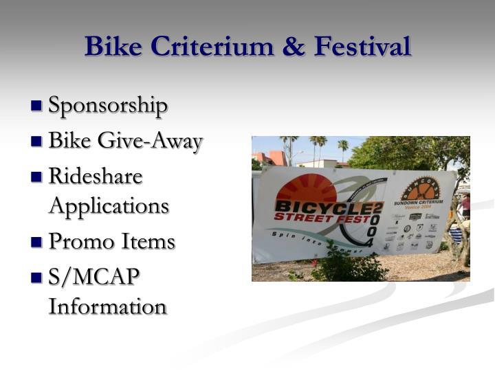Bike Criterium & Festival