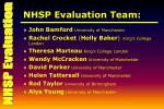 nhsp evaluation team