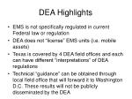 dea highlights
