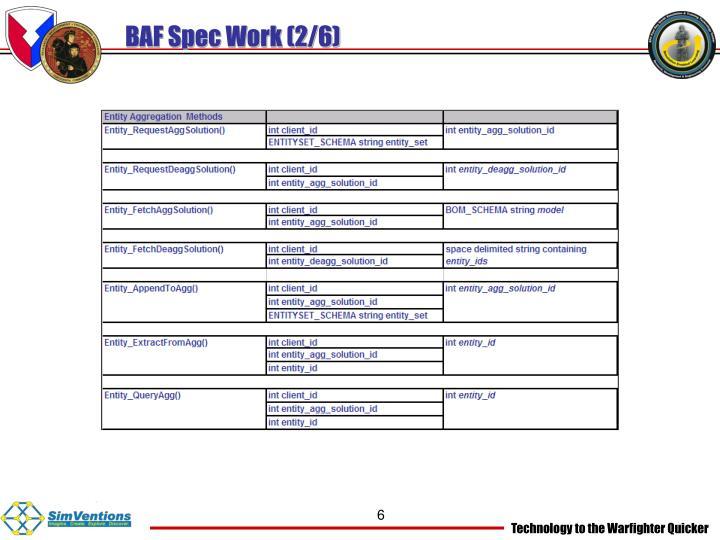 BAF Spec Work (2/6)