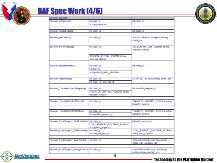 BAF Spec Work (4/6)