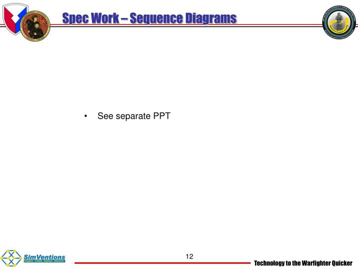 Spec Work – Sequence Diagrams