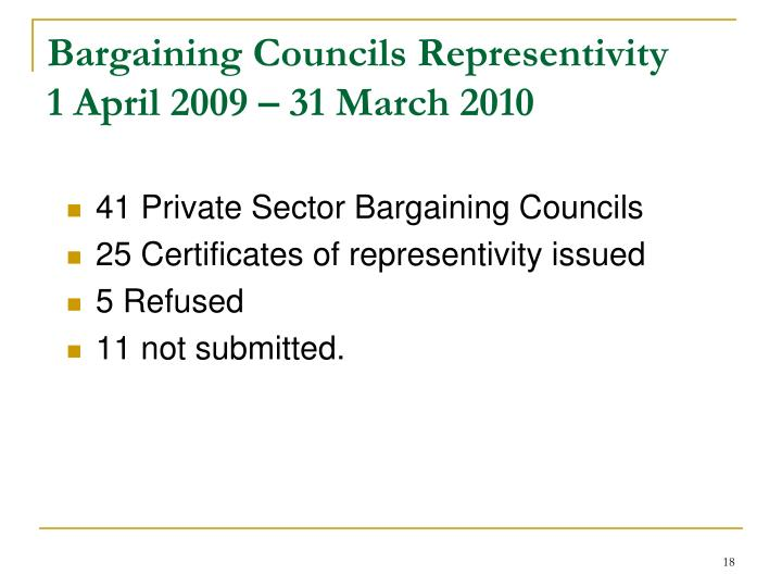 41 Private Sector Bargaining Councils