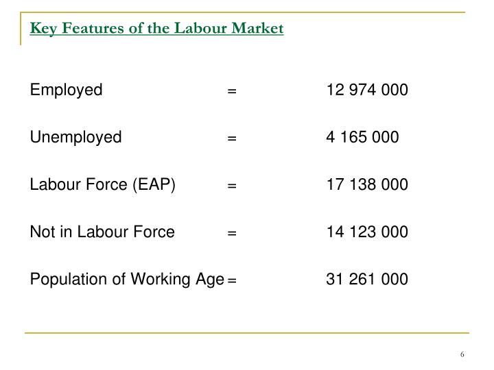 Key Features of the Labour Market