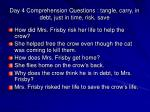 day 4 comprehension questions tangle carry in debt just in time risk save