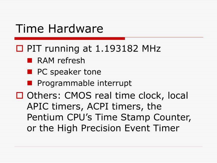 Time Hardware