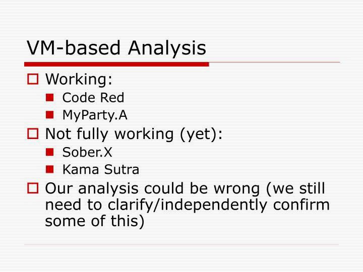 VM-based Analysis