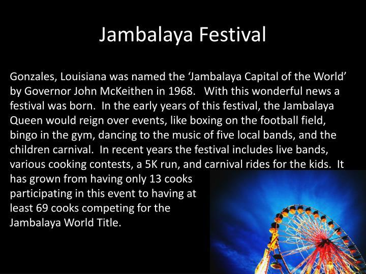 Jambalaya Festival