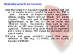 monitoring patients on thyroxine1