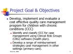 project goal objectives