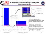 current baseline design analysis finite element model2