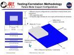 testing correlation methodology failure mode coupon configurations