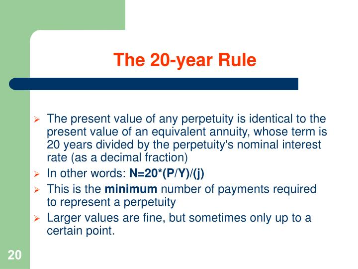 The 20-year Rule