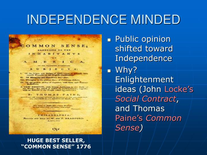 INDEPENDENCE MINDED