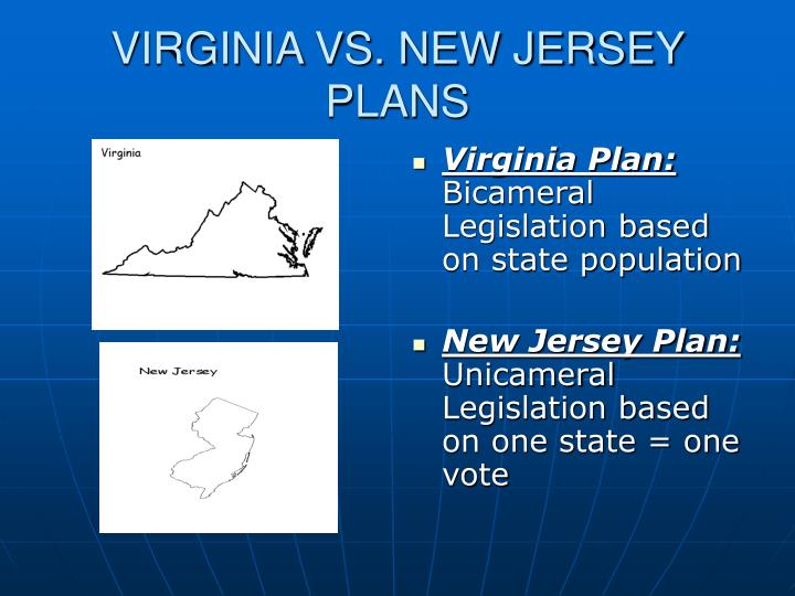 VIRGINIA VS. NEW JERSEY PLANS