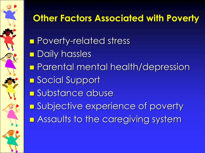 Other Factors Associated with Poverty
