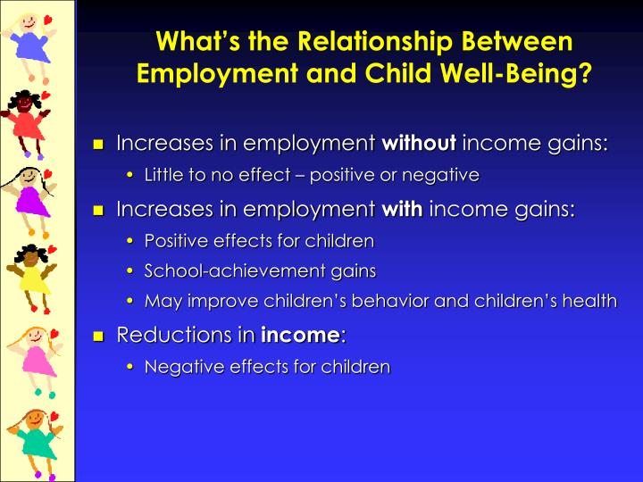 What's the Relationship Between Employment and Child Well-Being?
