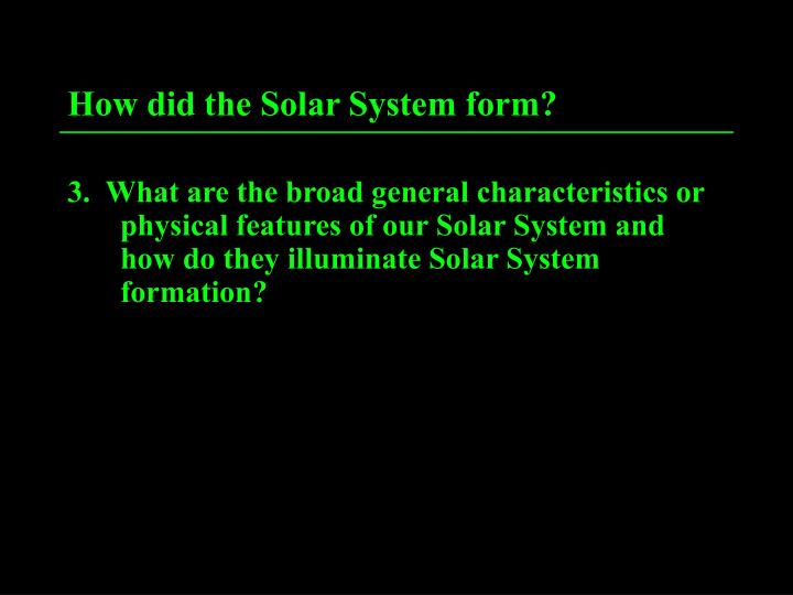 how did the solar system form n.