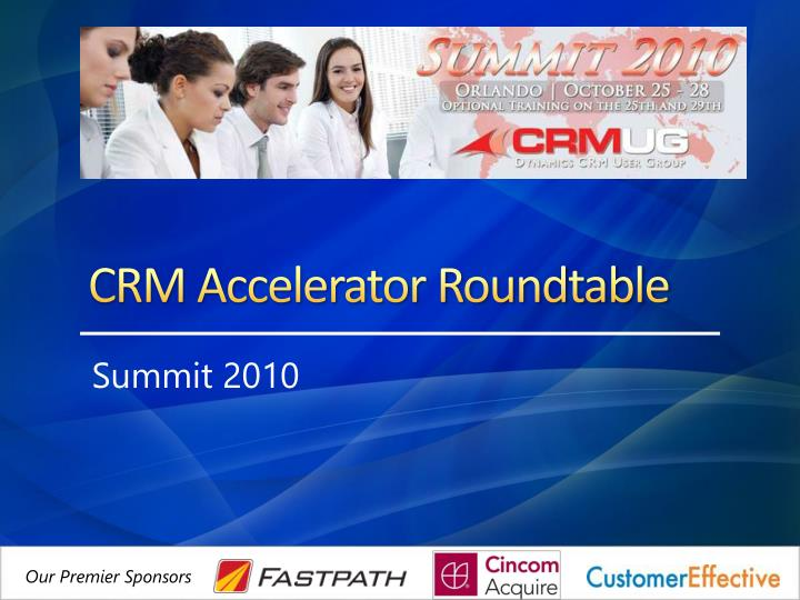crm accelerator roundtable n.